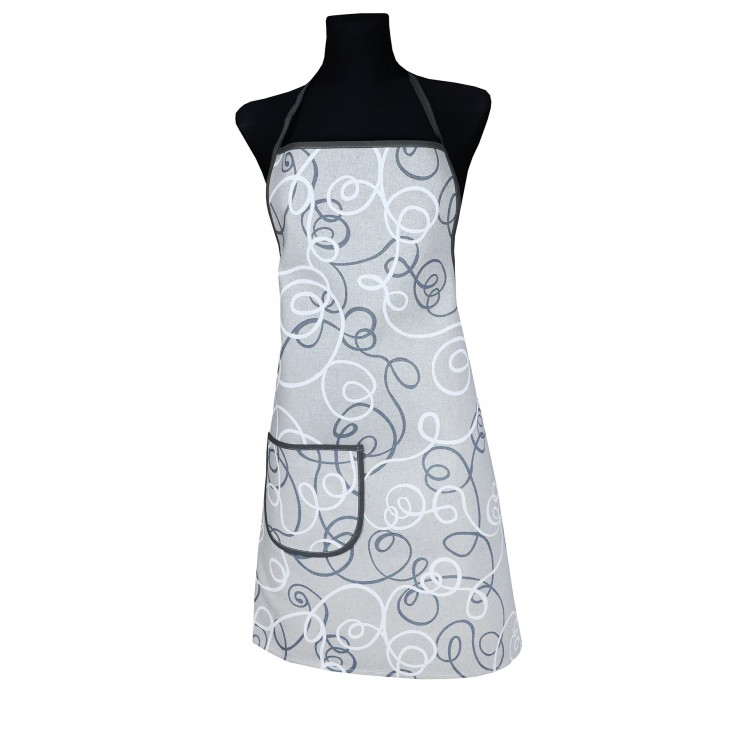 Kitchen apron 914 gray Made in Italy