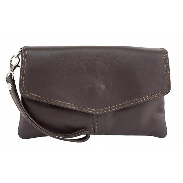 Genuine Leather Handbag 798 dark taupe