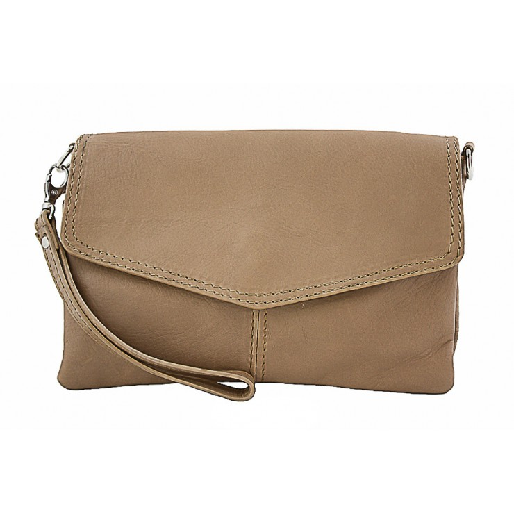 Genuine Leather Handbag 798 taupe