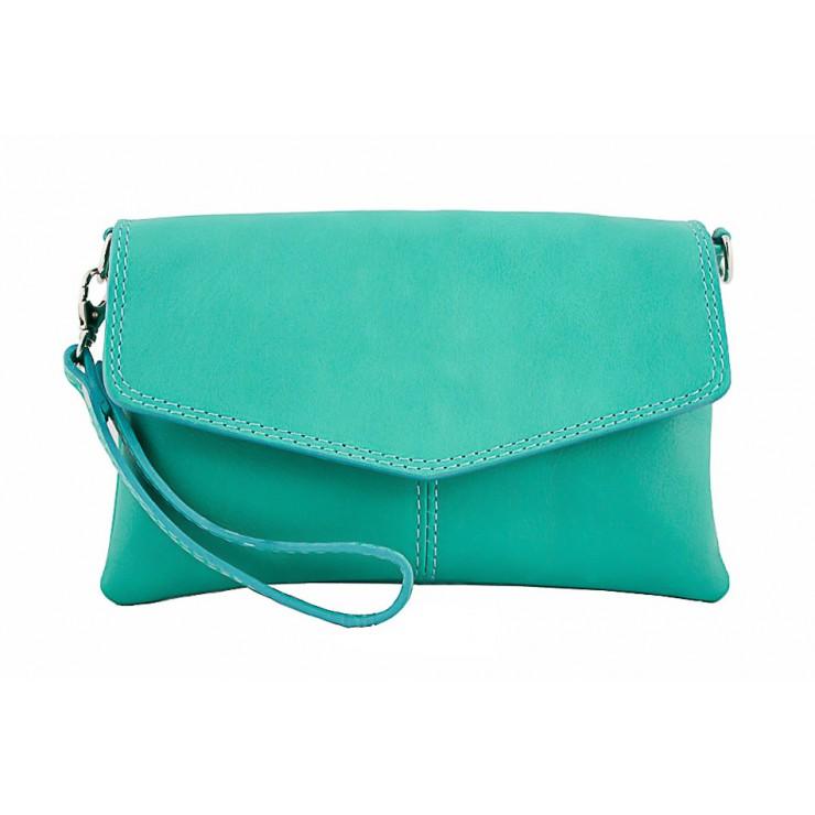 Genuine Leather Handbag 798 turquoise