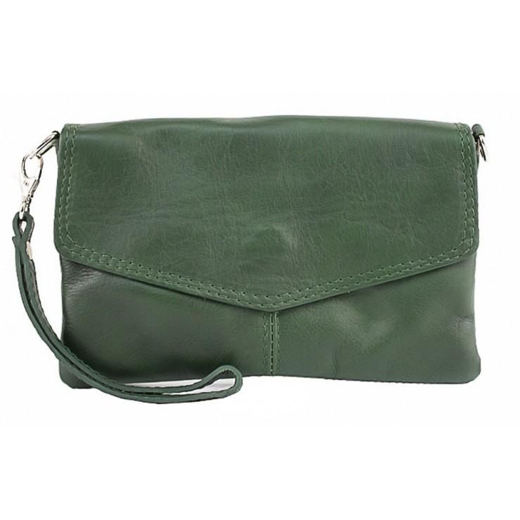 Genuine Leather Handbag 798 dark green