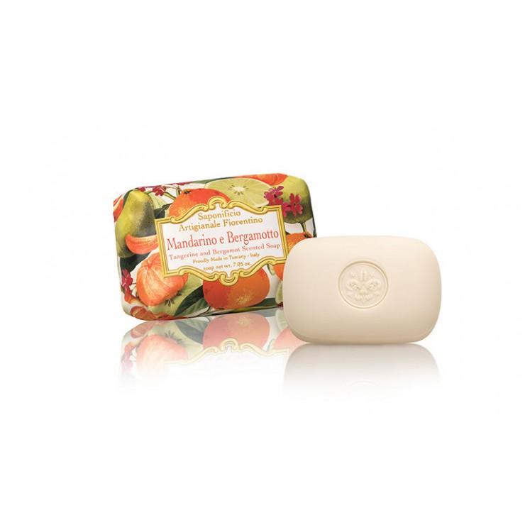 SA Fiorentino Prírodné tuhé mydlo Mandarinka a bergamot 200 g
