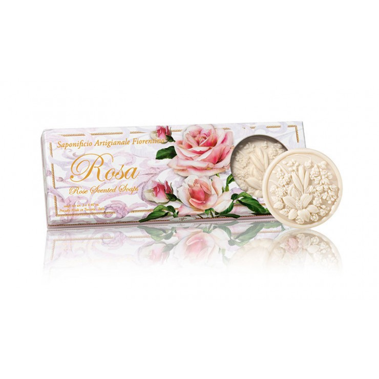 Vegetable soap Rose 3 x 125 g