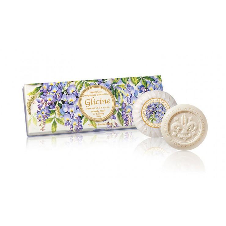 Prírodné mydlo Vistéria 3 x 100 g