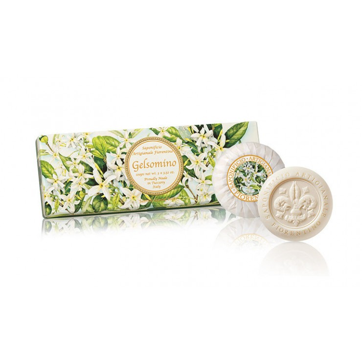 Vegetable soap Jasmine 3 x 100 g