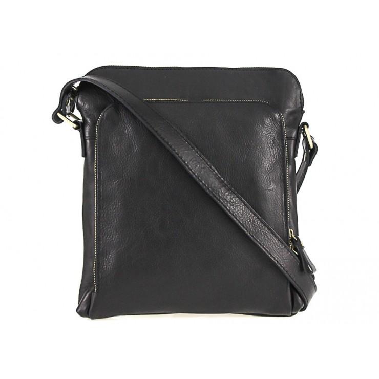 Pánska kožená taška čierna 453