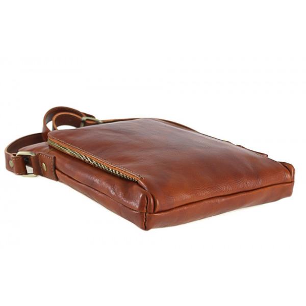 Pánska kožená taška čierna 453 Čierna