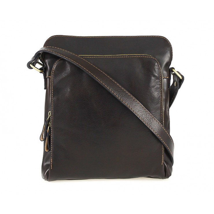 Leather Strap bag dark brown 453