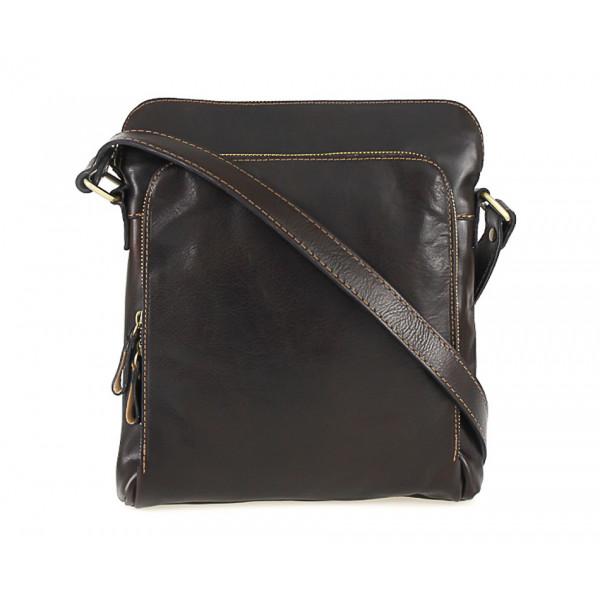 Pánska kožená taška tmavohnedá 453