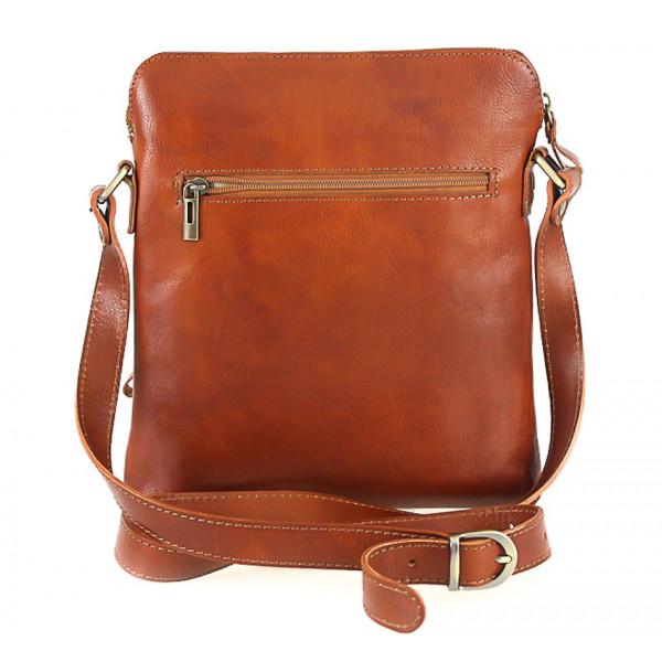 Pánska kožená taška tmavohnedá 453 Hnedá