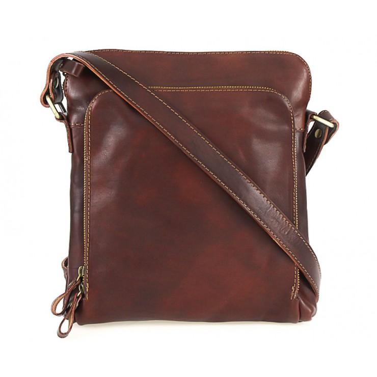 Pánska kožená taška hnedá 453
