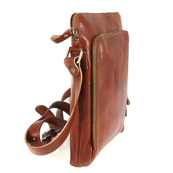 Pánska kožená taška hnedá 453 Hnedá