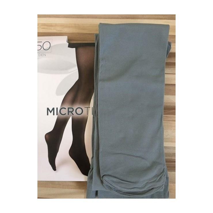 Šedé punčochové kalhoty s mikrovláknem 50 DEN