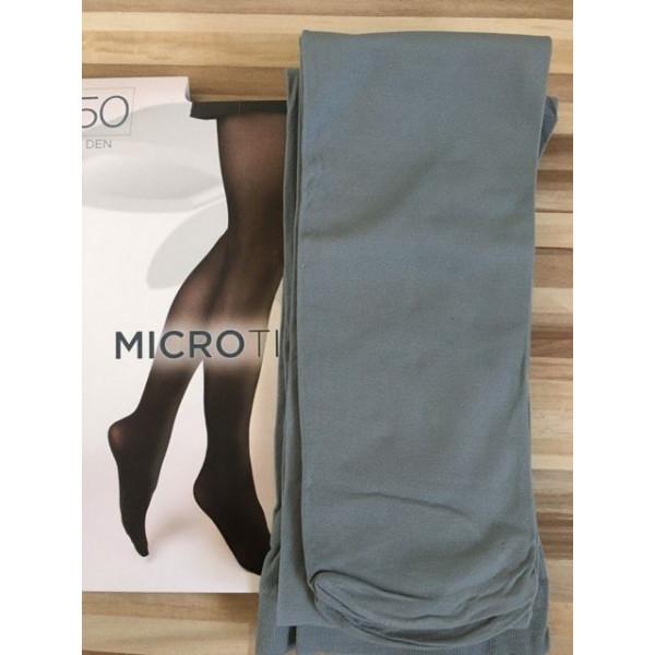 Šedé pančuchové nohavice s mikrovláknom 50 DEN