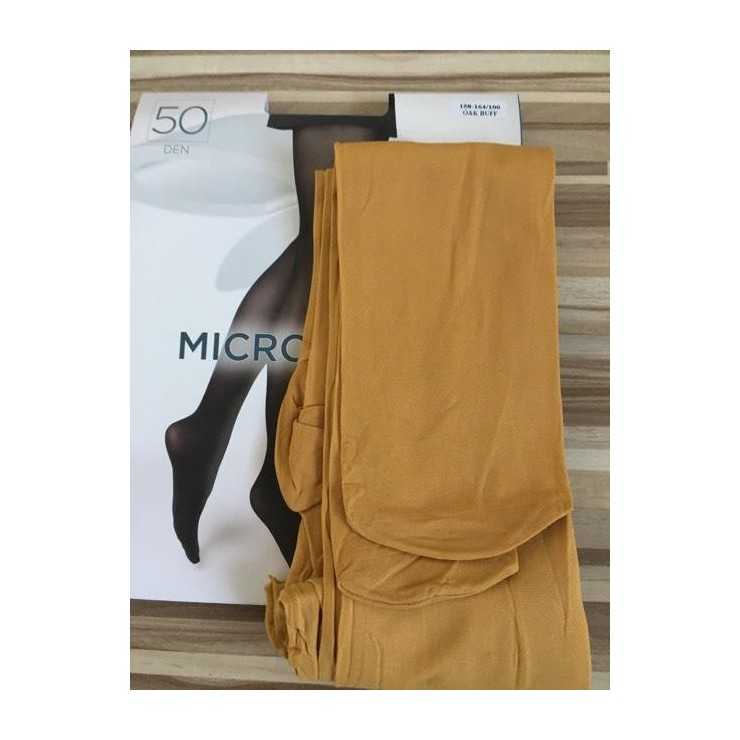 Okrové punčochové kalhoty s mikrovláknem 50 DEN