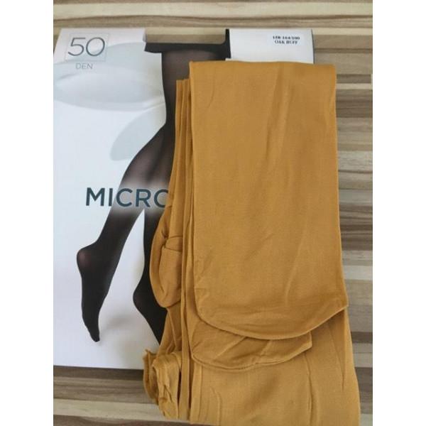 Okrové pančuchové nohavice s mikrovláknom 50 DEN