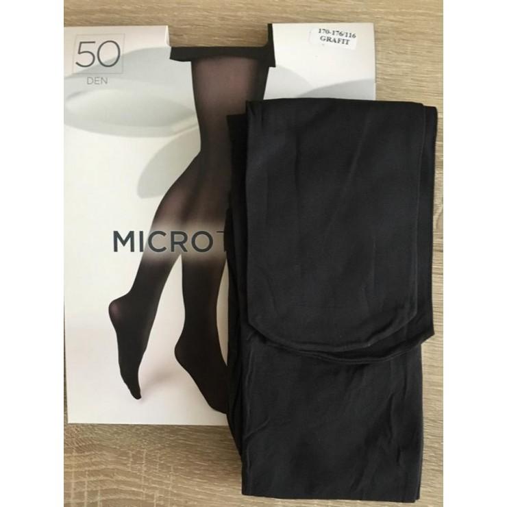 Grafitové punčochové kalhoty s mikrovláknem 50 DEN