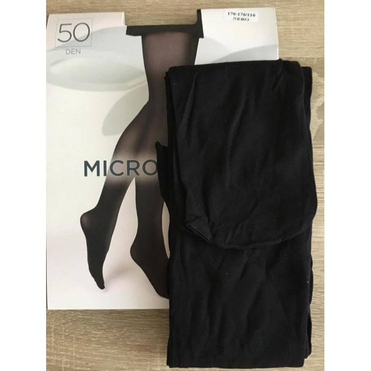 Černé punčochové kalhoty s mikrovláknem 50 DEN