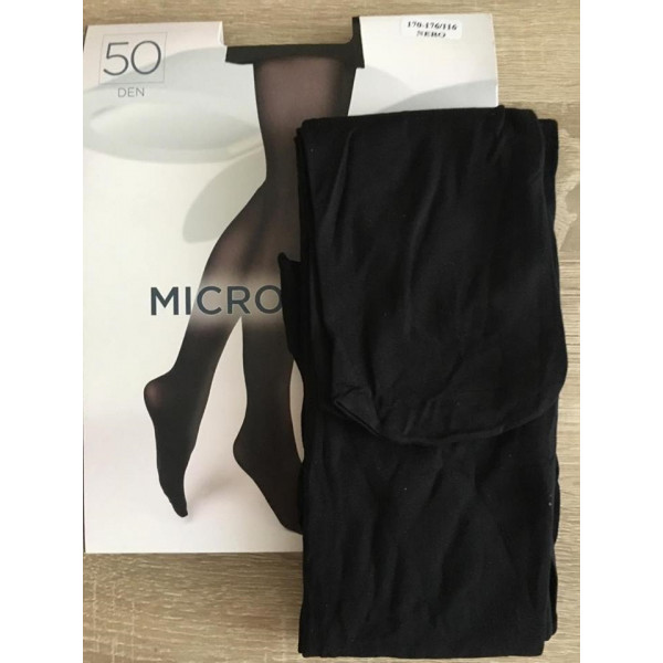 Čierne pančuchové nohavice s mikrovláknom 50 DEN