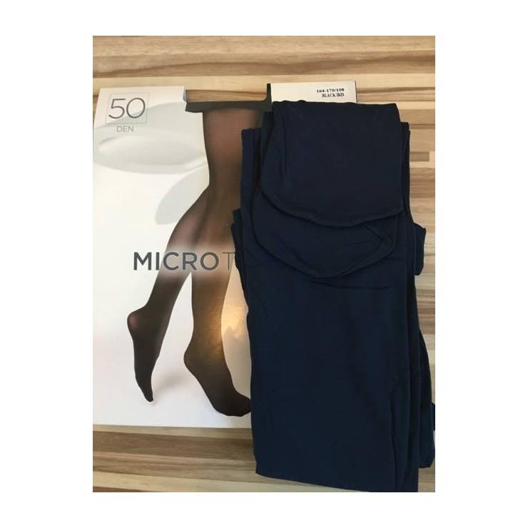 Tmavě modré punčochové kalhoty s mikrovláknem 50 DEN