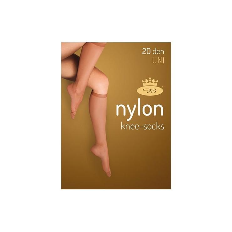 Lady nylon knee socks 2 pairs
