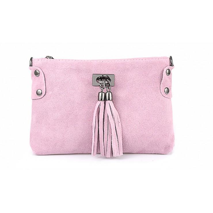 Genuine Leather Handbag 812 pink