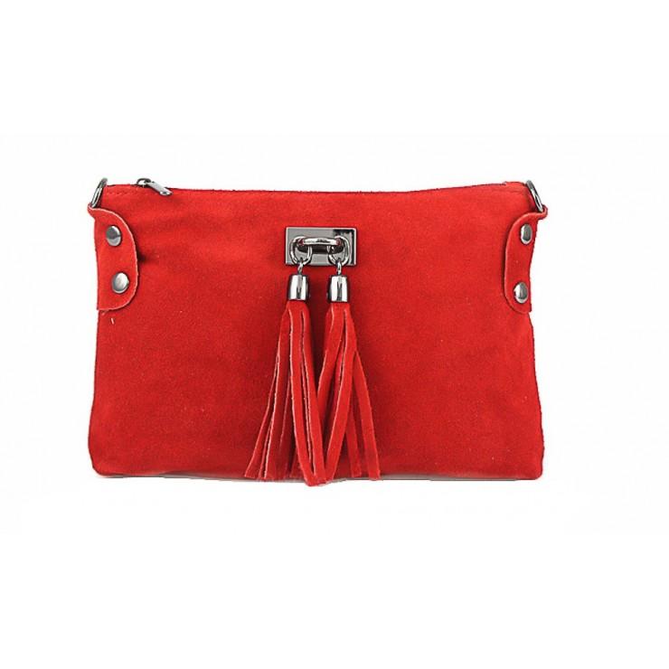 Genuine Leather Handbag 812 red