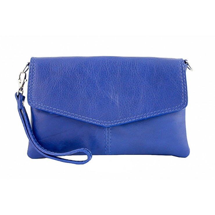 Genuine Leather Handbag 798 bluette