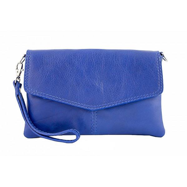70aae88290 Kožená kabelka 798 azurově modrá - MONDO ITALIA s.r.o.