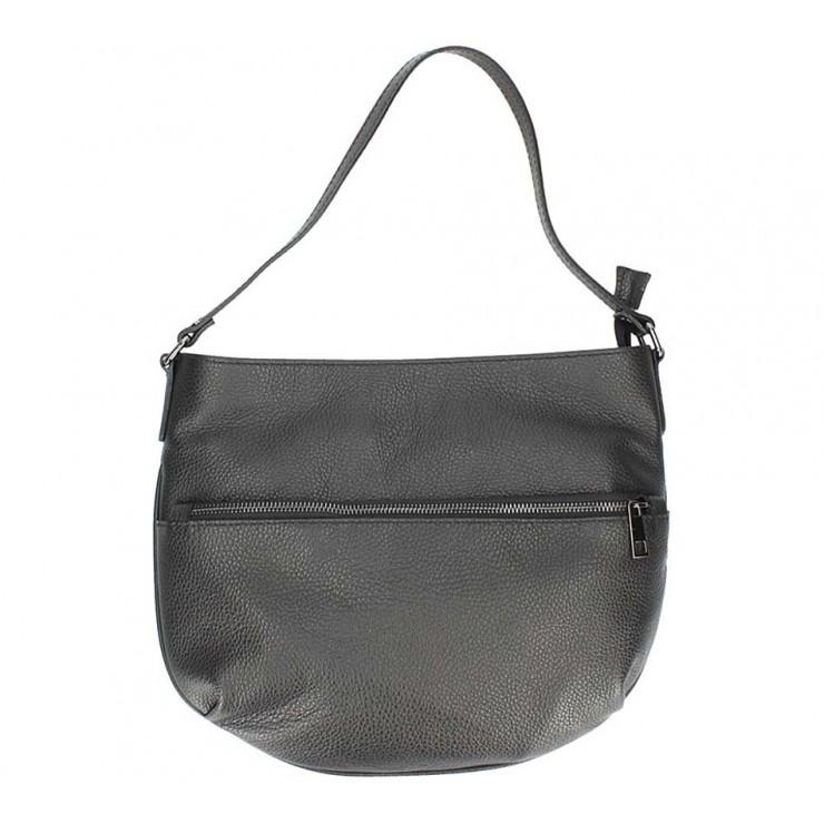 Černá kožená kabelka na rameno 5311