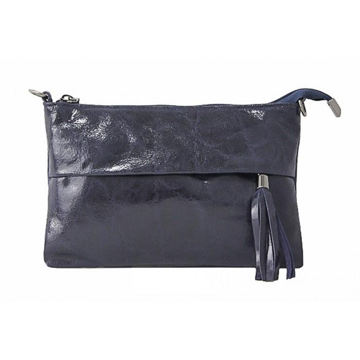 Kožená kabelka 1423A tmavě modrá