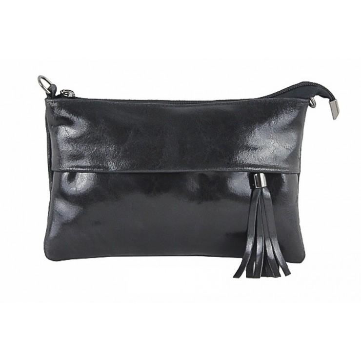 Kožená kabelka 1423A černá