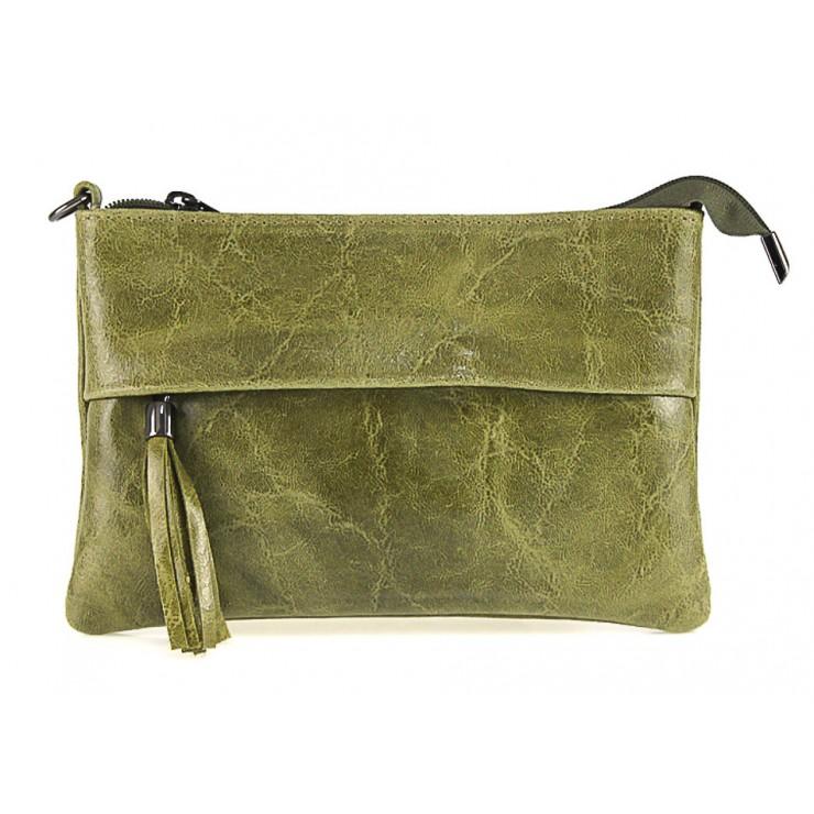 Kožená kabelka 1423A okrová