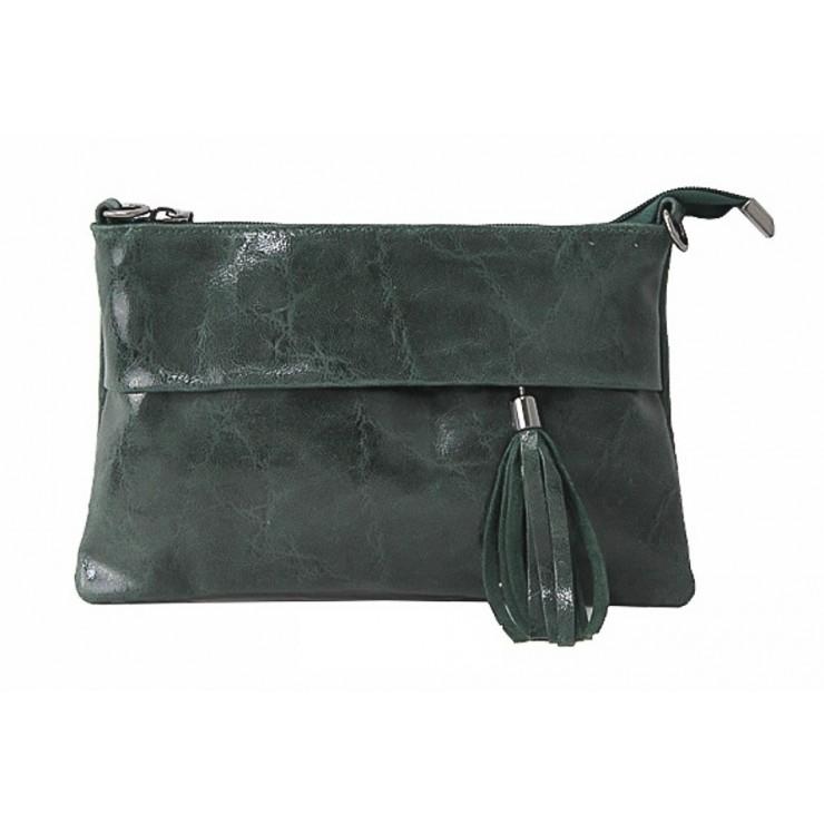 Kožená kabelka 1423A tmavozelená