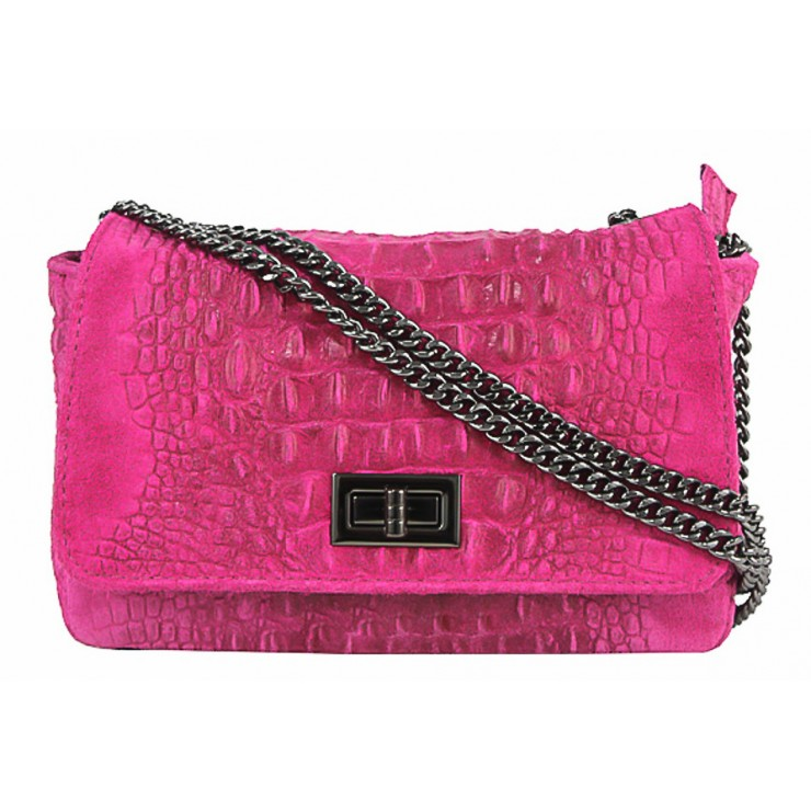 Small Pochette with strap 439 fuxia