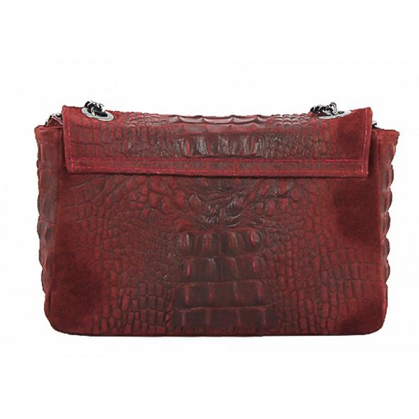 Talianska kožená kabelka potlač krokodíl 439 jeans Jeans