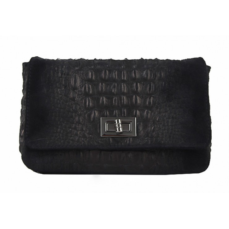 Small Pochette with strap 439 black
