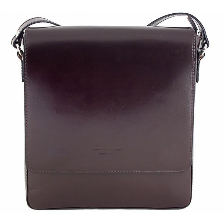 Pánská kožená taška 1160 tmavě hnědá