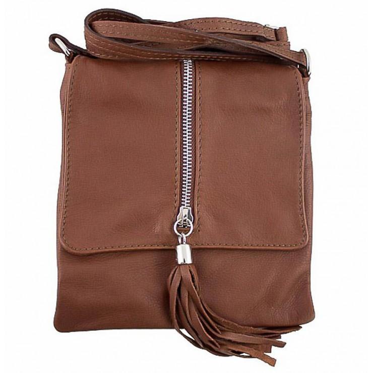 Genuine Leather Shoulder Bag 603A brown