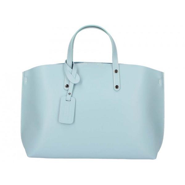 8707151ad4 Nebesky modrá kožená kabelka do ruky 5304 - MONDO ITALIA s.r.o.