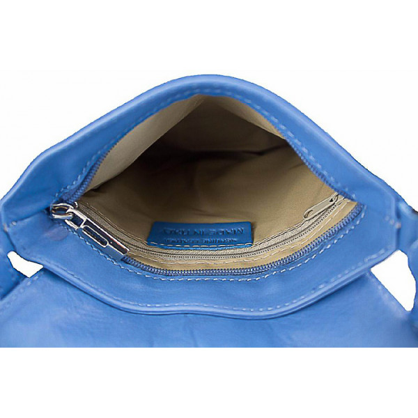 Kožená kabelka na rameno 603A šedohnedá