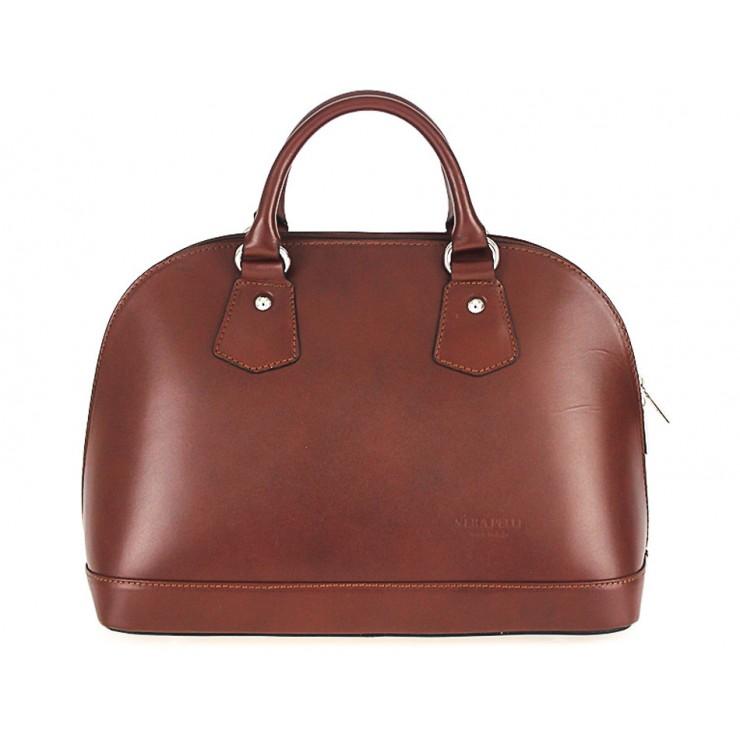 Kožená kabelka do ruky 1203 hnedá