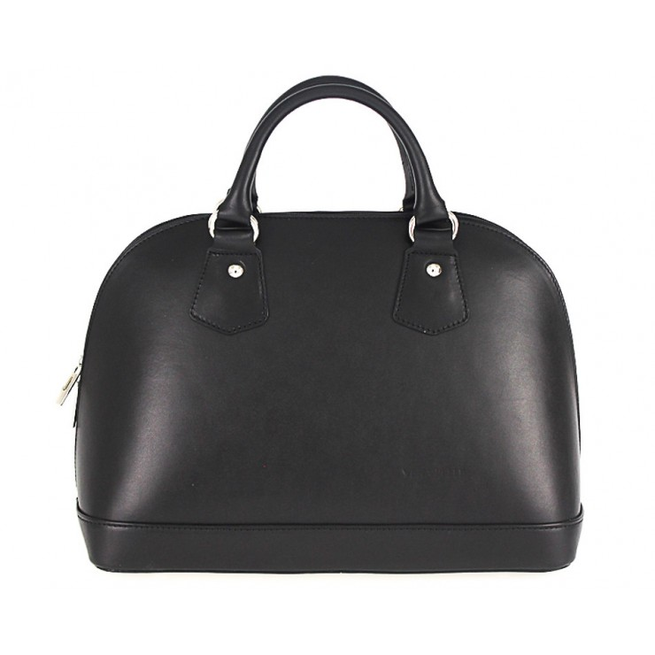 Genuine Leather Handbag 1203 black