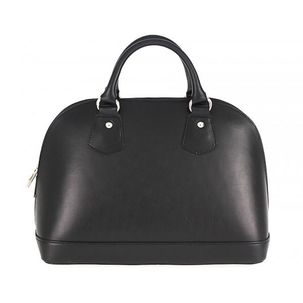 Kožená kabelka do ruky 1203 čierna