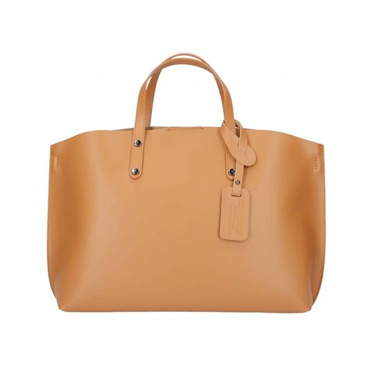 Koňaková kožená kabelka do ruky 1417