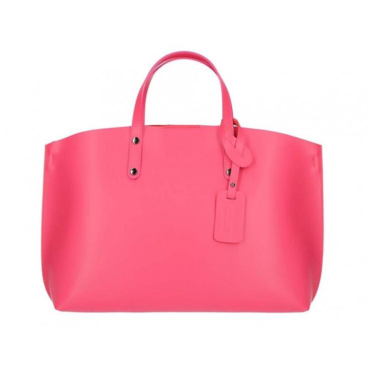 Genuine Leather Handbag 1417 fuxia