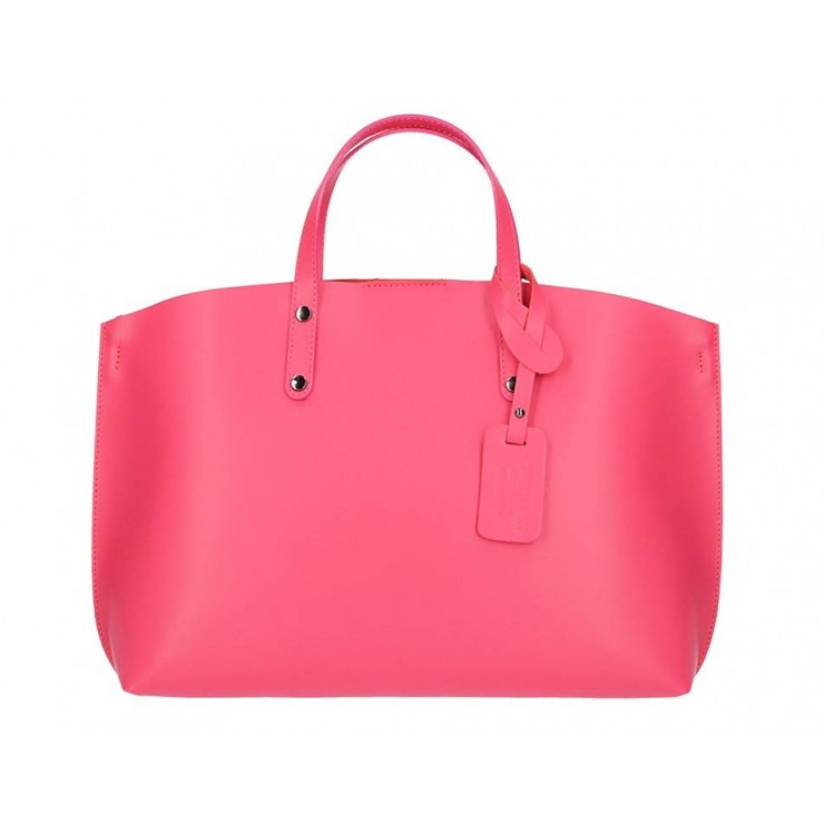 Genuine Leather Handbag 5304 fuxia