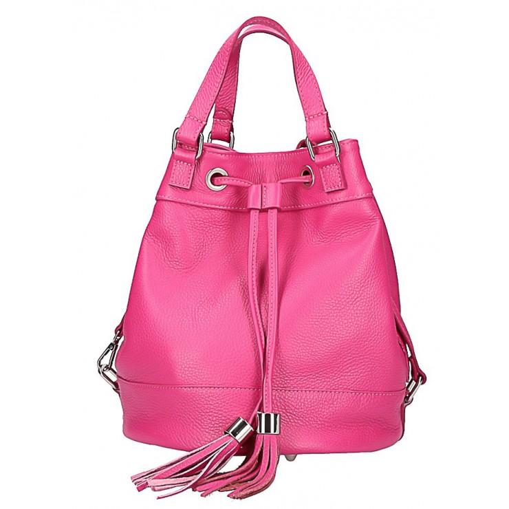 Leather Shoulder Bag 338 fuxia