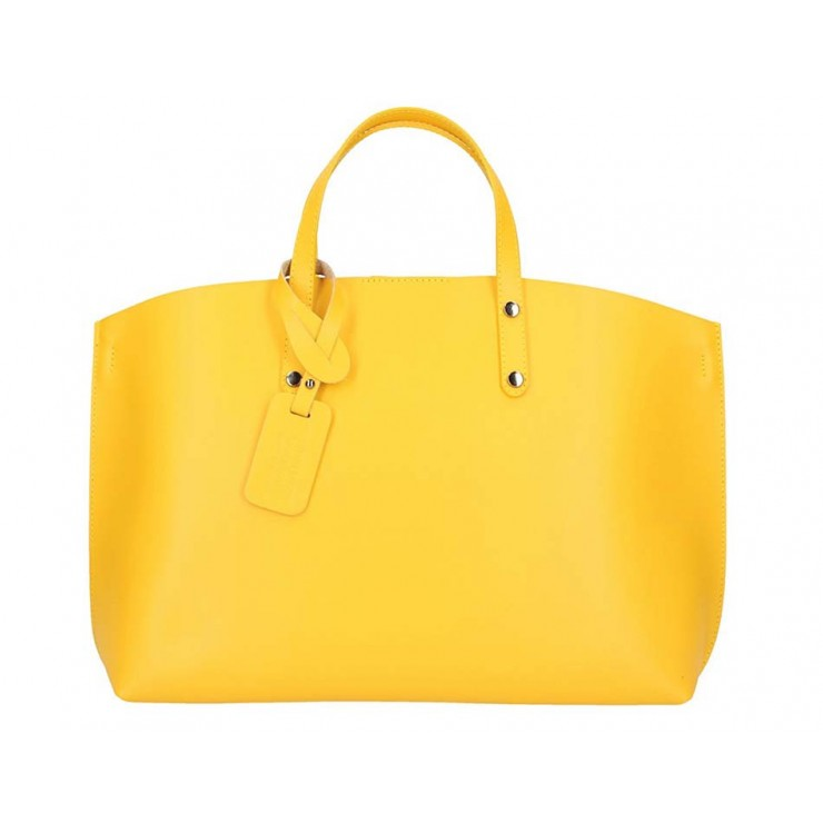 Genuine Leather Handbag 5304 yellow