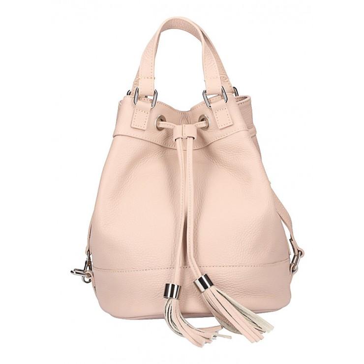 Pudrová ružová kožená kabelka 338